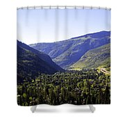 Colorado Mountains Shower Curtain