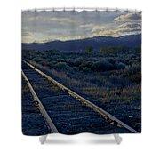 Colorado Railroad Crossing Shower Curtain