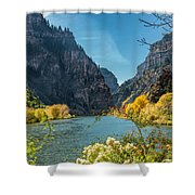 Colorado River And Glenwood Canyon Shower Curtain by Jemmy Archer