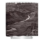 Colorado River At Desert View Grand Canyon Shower Curtain