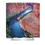 Colorado River Bend Shower Curtain