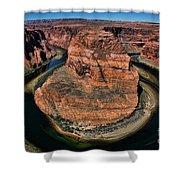 Colorado River Circles Horseshoe Bend Page Arizona Usa Shower Curtain