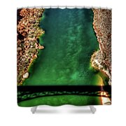 Colorado River From The Navajo Bridge Shower Curtain