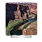 Colorado River Horseshoe Bend  Shower Curtain