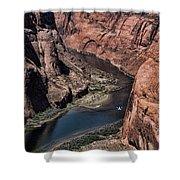 Colorado River Horseshoe Bend Color  Shower Curtain
