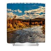 Colorado River In Autumn Shower Curtain