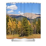 Colorado Rockies National Park Fall Foliage Panorama Shower Curtain