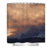 Colorado Rockies On Fire Shower Curtain