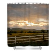 Colorado Rocky Mountain Country Sunset Shower Curtain