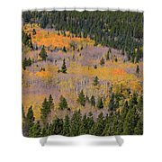 Colorado Rocky Mountains Autumn Colors Shower Curtain