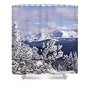 Colorado Sawatch Mountain Range Shower Curtain