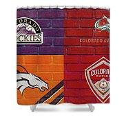 Colorado Sports Teams On Brick Shower Curtain