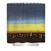 Colorado Spring Night Skyline Shower Curtain