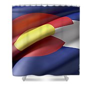Colorado State Flag Shower Curtain