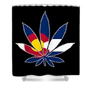 Colorado Weed Leaf Shower Curtain