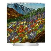 Colorado Wildflowers Shower Curtain