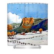 Colorado Winter 6 Shower Curtain