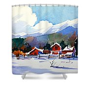 Colorado Winter 8 Shower Curtain
