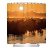 Coloradoriversunrise-yuma Shower Curtain