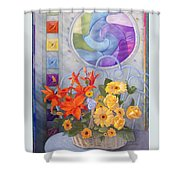 Colordance Of Summer Shower Curtain