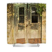 Colorful Zeytinli Village Door Shower Curtain