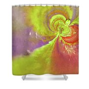 Colored Abstract Shower Curtain