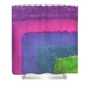 Colored Borders Shower Curtain