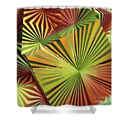 Colored Box Abstract Shower Curtain