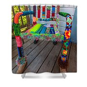 Colored Chair Shower Curtain