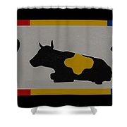 Colored Cows Shower Curtain
