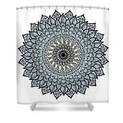Colored Flower Zentangle Shower Curtain
