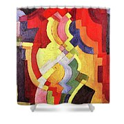 Colored Forms IIi By August Macke Shower Curtain