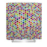 Colored Geometries Shower Curtain