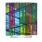 Colored Glass 10 Shower Curtain