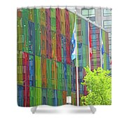 Colored Glass 12 Shower Curtain