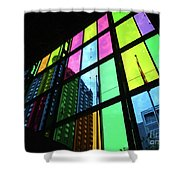 Colored Glass 3 Shower Curtain