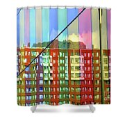 Colored Glass 6 Shower Curtain
