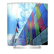 Colored Glass 7 Shower Curtain