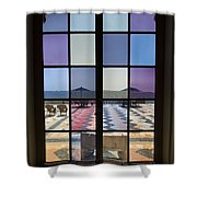 Colored Glasses Shower Curtain