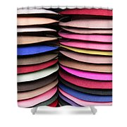 Colored Hat Brims Shower Curtain
