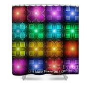 Colored Lights Shower Curtain