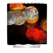 Colored Moons 1 Shower Curtain