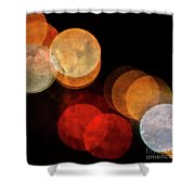 Colored Moons 3 Shower Curtain
