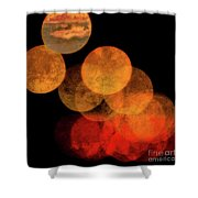Colored Moons 4 Shower Curtain