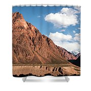 Colored Mountain Shower Curtain