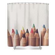 Colored Pencils Shower Curtain by Cortney Herron