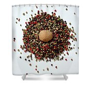 Colored Peppercorn  Shower Curtain