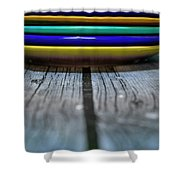 Colored Plates 1 Shower Curtain