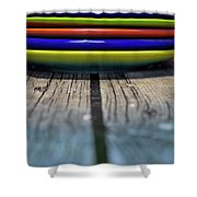 Colored Plates 5 Shower Curtain