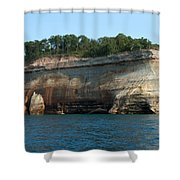 Colored Rock Shower Curtain
